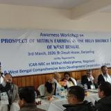 Awareness Workshop on Prospect of Mithun Farming in the Hilly District of West Bengal