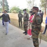 Visit of Brigadier Satyendra Tiwari, 6 Sector  Commander & Colonel Udhav Bhanu, 41 Assam Rifle .