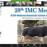 28th IMC meeting of ICAR-NRC on Mithun, Nagaland, held on 4th Feb 2021 through Video Conferencing