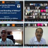 "Virtual Interface Workshop with KVKs of ATARI Zone VI and VII on ""Promoting and Branding Mithun"""