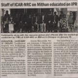 Staff of ICAR-NRC on Mithun educated on IPR