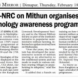 ICAR-NRC on Mithun organises technology awareness programmes