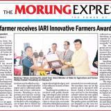 Naga farmer receives IARI Innovative Farmers Award 2021