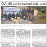 ICAR-NRC conducts animal health camp