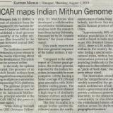 ICAR maps India Mithun Genome
