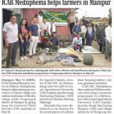 ICAR Medziphema helps farmers in Manipur
