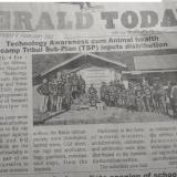 Technologies Awareness cum ANimal health camp Tribal Sub-Plan (TSP) inputs distribution