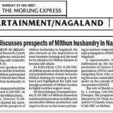Meeting discusses prospects of Mithun husbandry in Nagaland