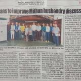 Plans to improve Mithun husbandry discussed